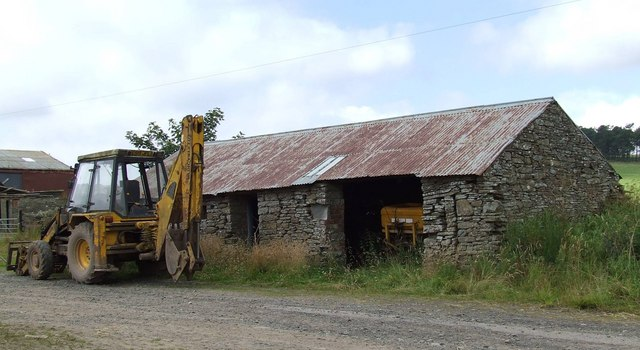 Steading and JCB, Nether Handwick
