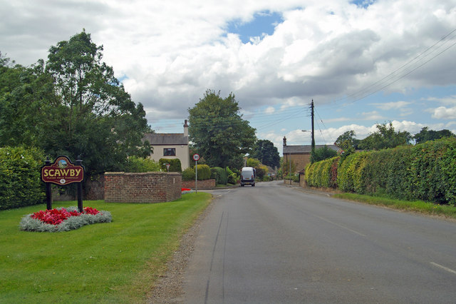 Entering Scawby