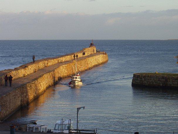 Harbour breakwater at St Andrews