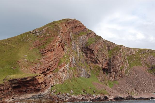 Cliff in north Rum