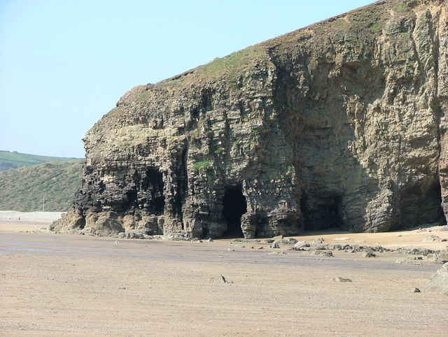 Sea cave on Newgale beach