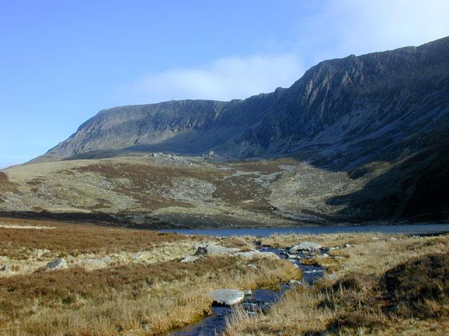 Stream flowing from Llyn Gafr