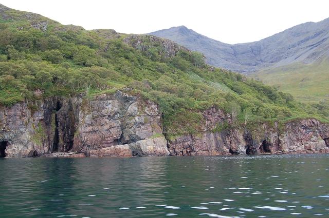 Sea caves on Soay Sound