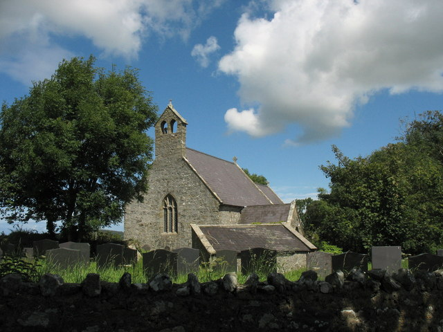 The west wall of St Gredifael's Church