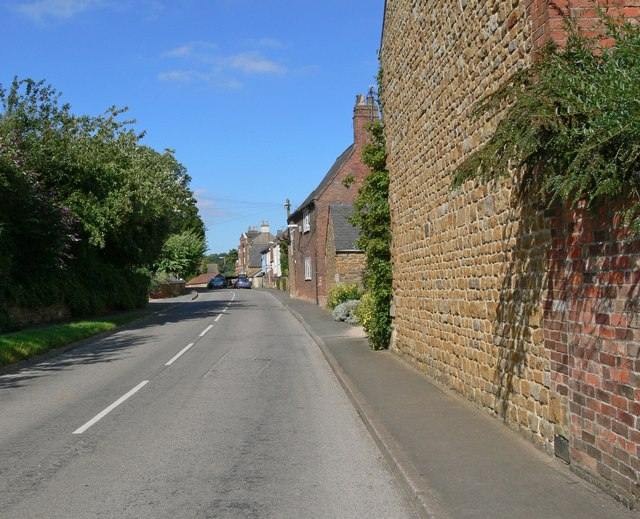 Looking along Main Street in Burrough on the Hill