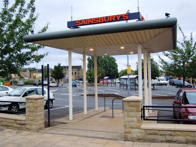 Brighouse - Pedestrian entrance into Sainsbury's carpark