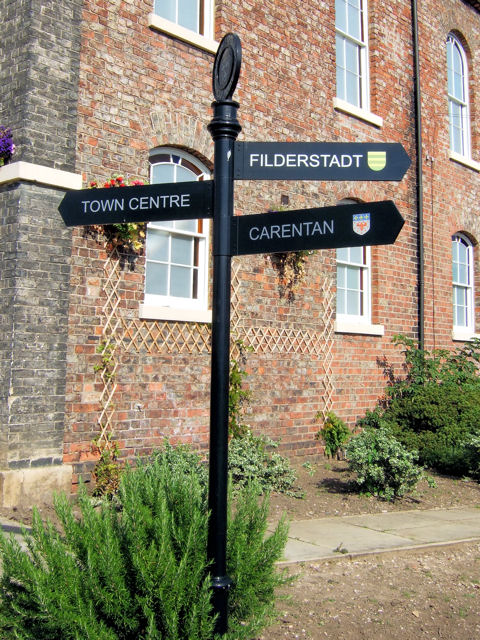 Selby Town Hall Signpost