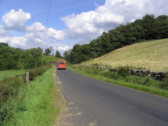 The B6399 near Leahaugh