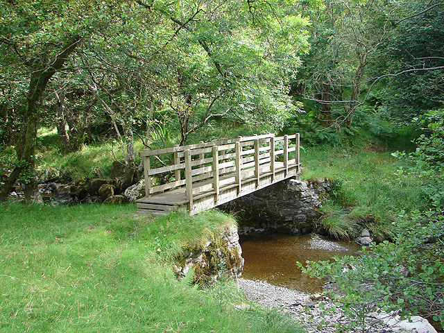 Footbridge over Clegyrnant
