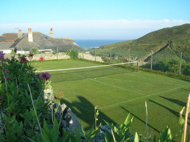New Polzeath grass tennis court