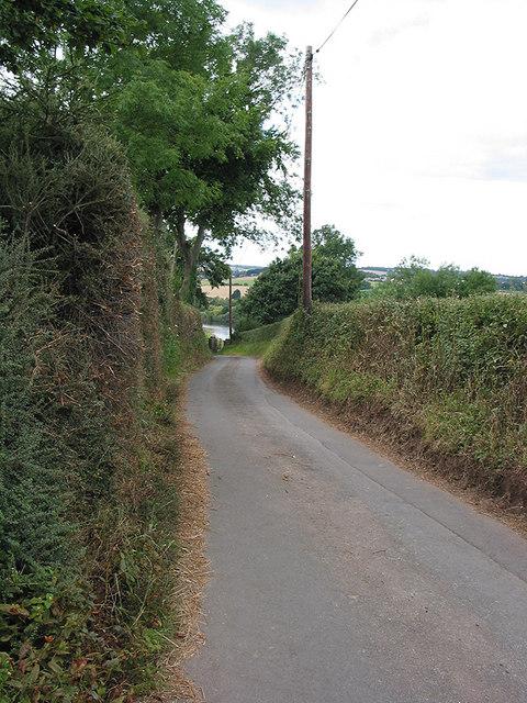 Narrow country road near Sellack