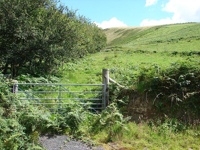 Farmland near Nant-hir