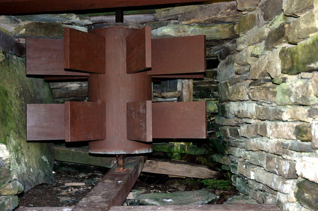 The Click Mill (detail of mill wheel)