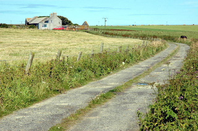 The farm of Nether Linklater in Sandwick