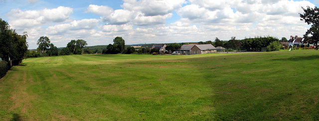Panoramic view of St Briavels Playing Field