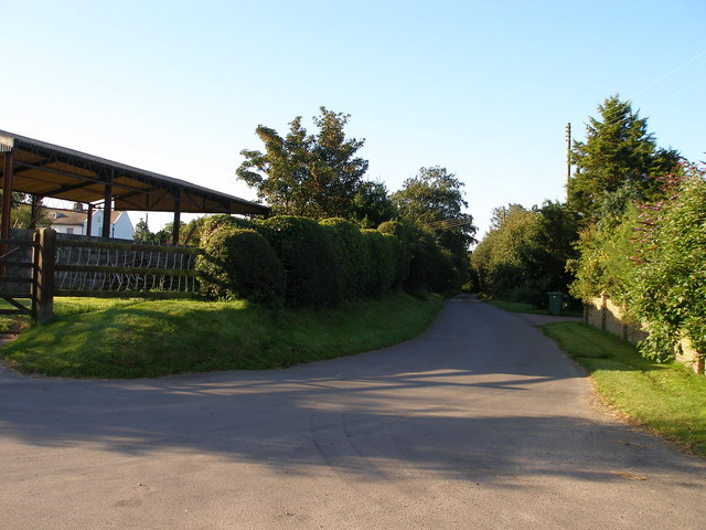 Junction of Back Lane with un-named country lane