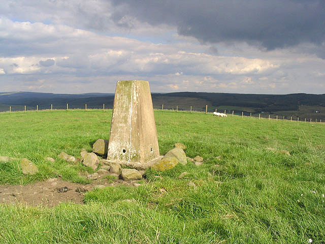 The triangulation pillar on Greena Hill