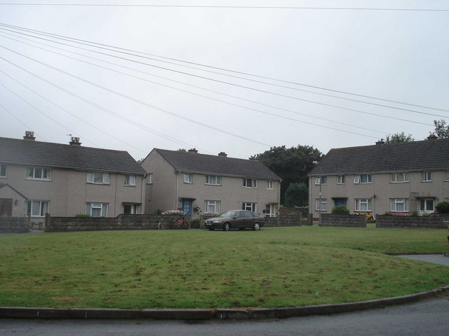 Housing estate on the edge of Haverfordwest