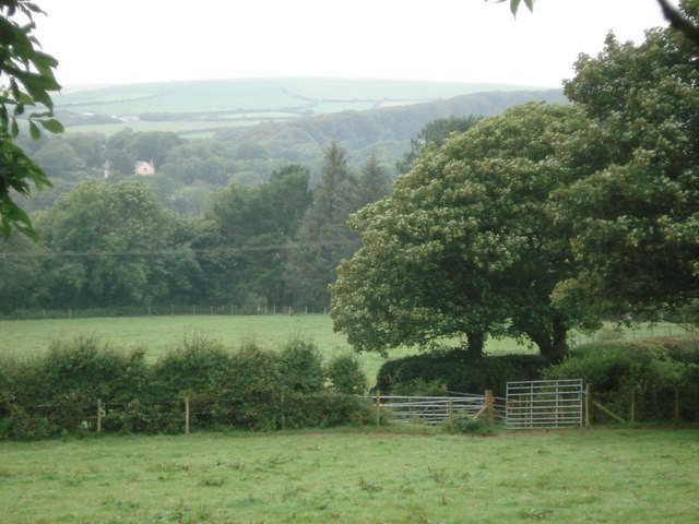 View across the Cleddau valley to Barris Hill