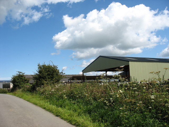 Roadside farm buildings