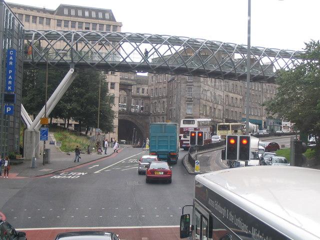 Bridge over Leith Street