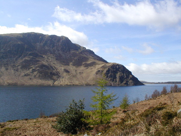Ennerdale Water: Anglers Crag from Bowness Knott