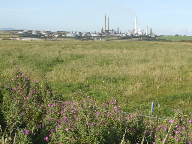 Grazing land to oil refinery