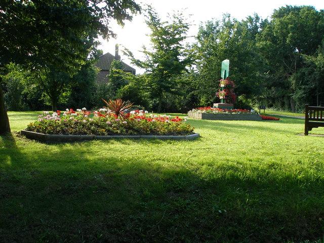 Village garden area