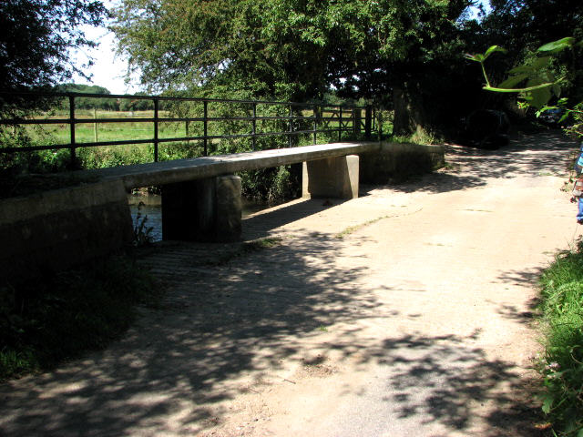 Unbridged ford across Scarrow Beck