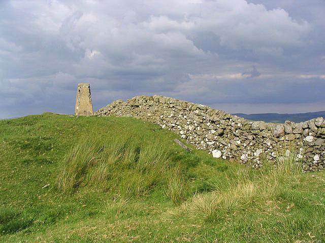 The triangulation pillar on Kirk Hill