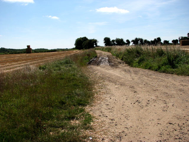 Track near St Mary's church, Roughton