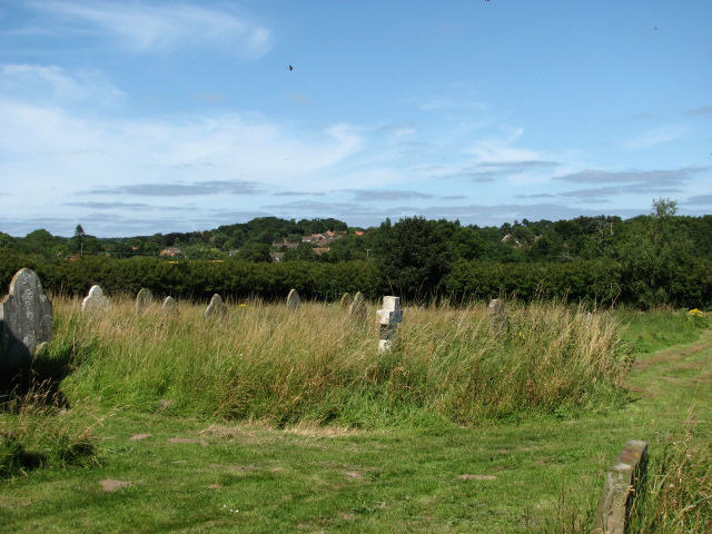 View towards Roughton from churchyard