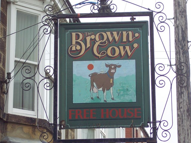 Sign for the Brown Cow
