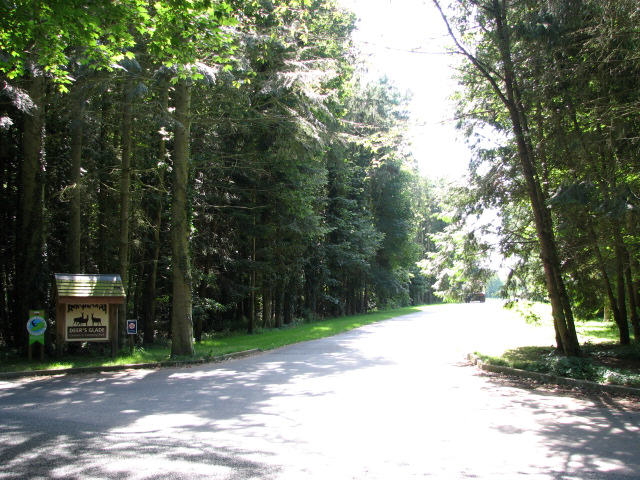 Entrance to Deer's Glade Camping & Caravan Park
