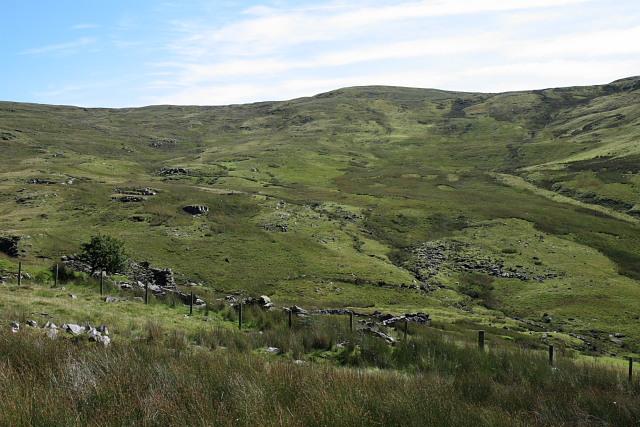 Looking across Cwm Nant Milwyn
