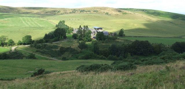 Lower slopes of Ark Hill