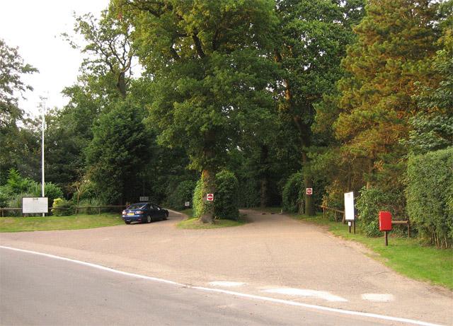 Entrance to Caravan/Campsite in Cottage Wood, Cromer