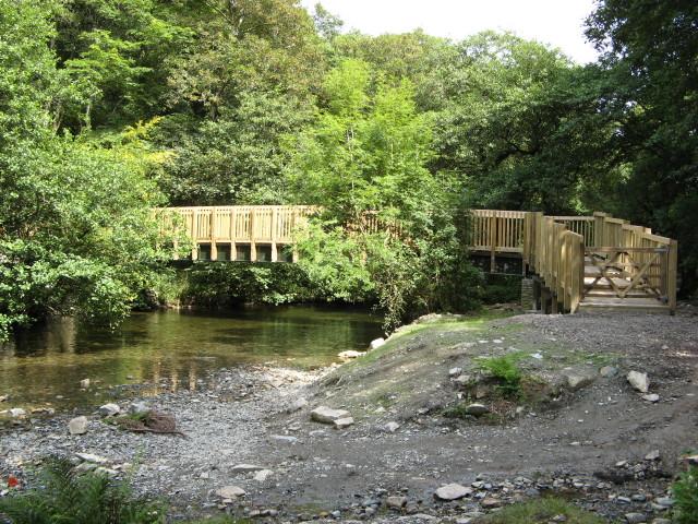 Footbridge across the River Walkham, near Grenofen