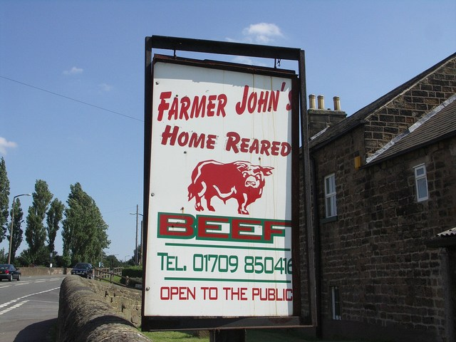 Farmer John's Road Sign