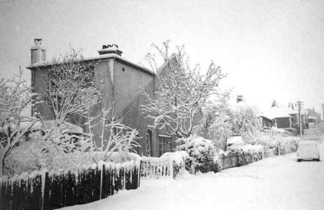 Springfield Road, Baildon,  in the snow in 1965