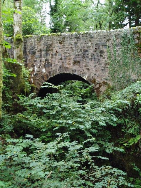 Bridge over the Dunveoch Burn, Garroch Estate.