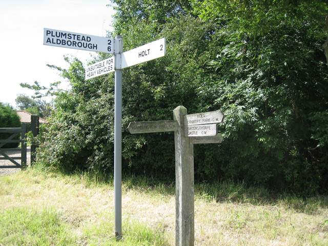 Two signposts at Hempstead centre