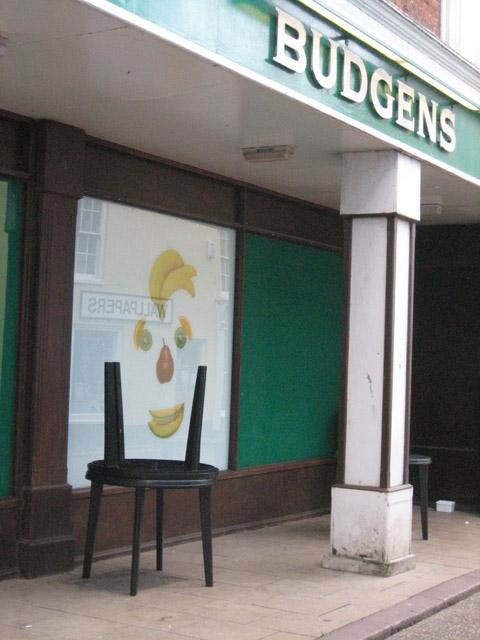 Fruit-face in Budgens window