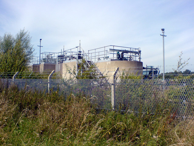 Building at sewage works