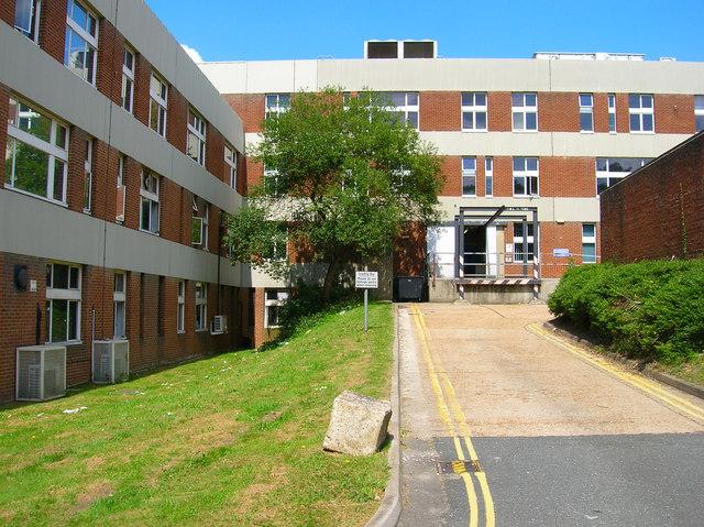Service Entrance, John Maynard Smith Building, University of Sussex
