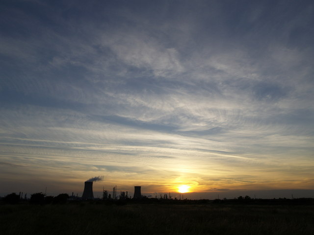 Sky, Silhouette, Sunset, Saltend and Steam