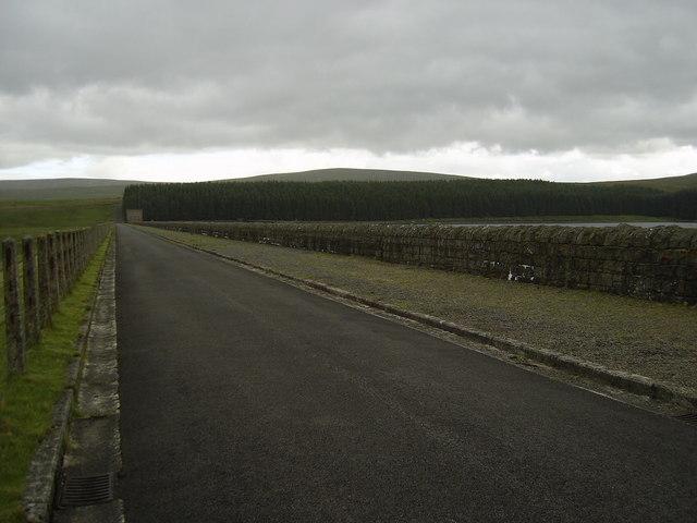 Burnhope reservoir dam head