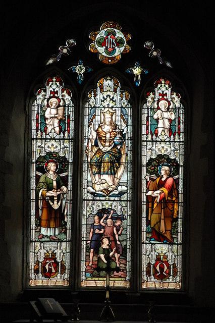East window, Barton-on-the-Heath church