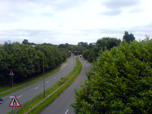 Overlooking the A617