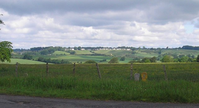Strathaven from Low Kype Road near Sandford